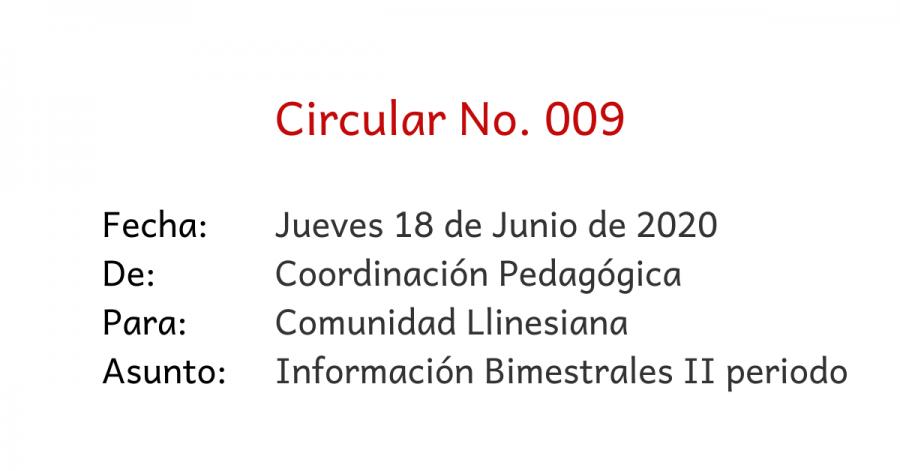 circular 009