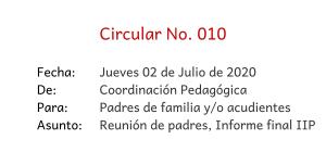 circular 010